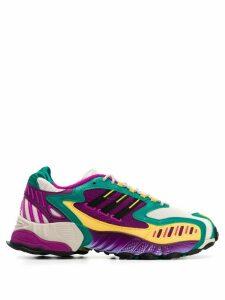 adidas colour block design sneakers - Green