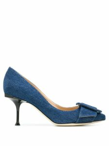Sergio Rossi denim court shoes - Blue