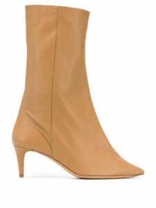 Acne Studios pointed toe mid-heel boots - Brown
