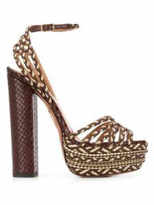 Aquazzura Cozumel Plateau 140mm sandals - Brown
