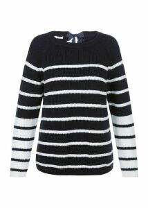 Rae Sweater Navy Ivory