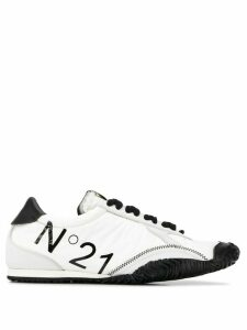 Nº21 logo detail low-top sneakers - White