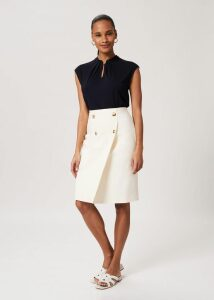 Gemma Wool Blend Sweater Navy Ivory