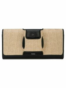 Perrin Paris two-tone clutch bag - Black