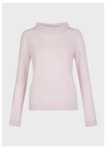 Audrey Wool Cashmere Sweater Pastel Pink