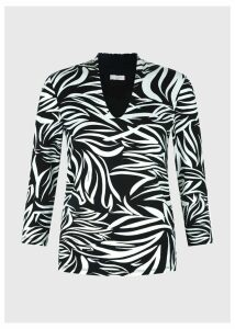 Aimee Printed Top Ivory Black