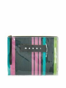 Marni logo zipped clutch - Multicolour
