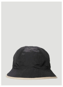 Y-3 Reversible Logo Embroidered Bucket Hat in Black size L