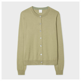 Women's Pistachio Cotton Cardigan