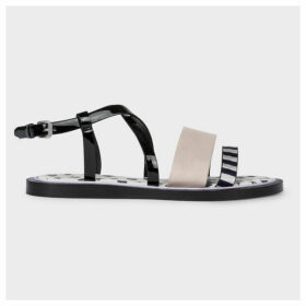 Women's Black Patent 'Eunice' Sandals
