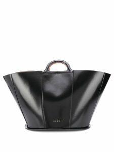 Marni polished top handle tote - Black