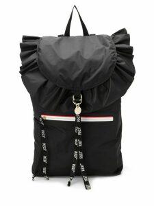 RedValentino RED(V) ruffled backpack - Black