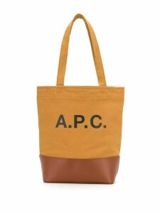 A.P.C. small two-tone logo tote - Brown