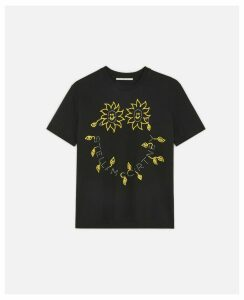 Stella McCartney Black Stella Smile T-Shirt, Women's, Size 4
