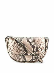 Frenzlauer snakeskin-effect cross body bag - NEUTRALS