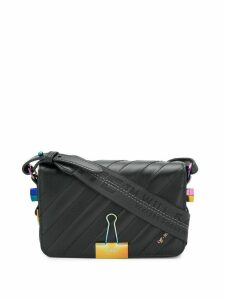 Off-White Diag Binder Clip crossbody bag - Black