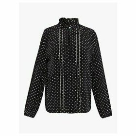 Gerard Darel Moana Silk Blouse, Black