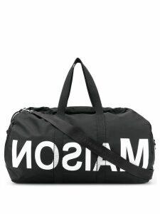 Mm6 Maison Margiela reverse logo holdall - Black