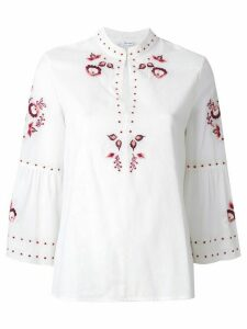 Vilshenko embroidered floral blouse - NEUTRALS