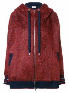 MRZ textured woven hoodie
