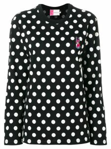 Maison Kitsuné logo polka-dot sweater - Black