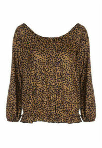 Womens Animal Print Gypsy Top