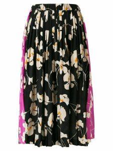 Nº21 floral pleated skirt - Black