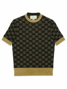 Gucci Wool top with GG motif - Black