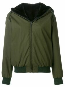 Holland & Holland reversible fur hooded jacket - Green