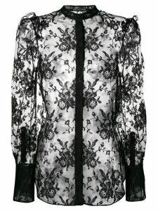 Alexander McQueen sheer lace shirt - Black