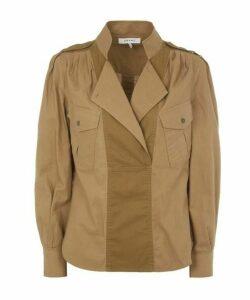 Panelled Cotton-Twill Safari Shirt