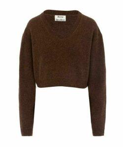 Kadienne Shetland Wool Crop Jumper