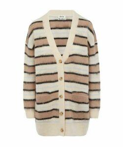 Keda Alpaca Knit Stripe Cardigan
