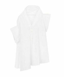 Jasmin Asymmetric Belted Cotton-Blend Shirt