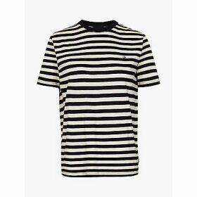 Calvin Klein Embroidered Logo Stripe T-Shirt, Black/Multi