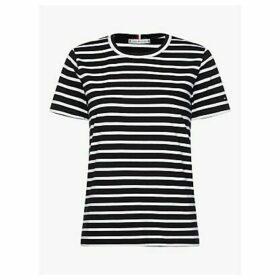 Tommy Hilfiger Essential Organic Cotton Stripe T-Shirt, Navy/White