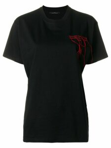Rokh embroidered design T-shirt - Black