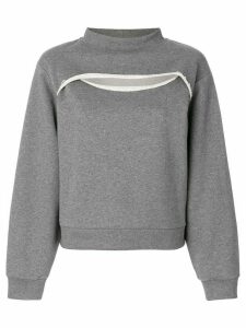 T By Alexander Wang cutout sweatshirt - Grey