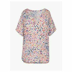Gerard Darel Jiliane Floral T-Shirt, Ecru/Multi