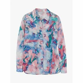 Pure Collection Relaxed Abstract Silk Blouse, Multi