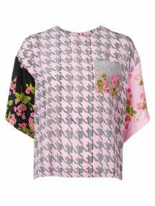 Natasha Zinko printed oversized blouse - PINK