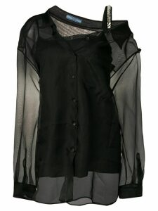 Prada double layer silk shirt - Black