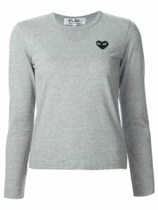 Comme Des Garçons Play chest patch longsleeved T-shirt - Grey