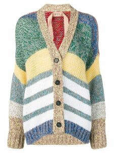 Nº21 striped button cardigan - Green