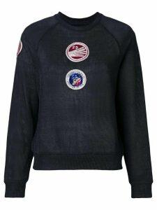 Mr & Mrs Italy patch embellished sweatshirt - Grey