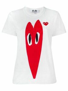 Comme Des Garçons Play stretch logo print T-shirt - White