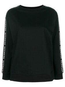 Moncler logo sleeve sweatshirt - Black