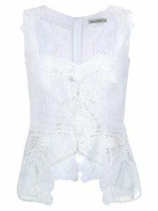 Martha Medeiros lace blouse - White
