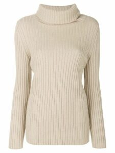 Lamberto Losani ribbed roll-neck jumper - NEUTRALS
