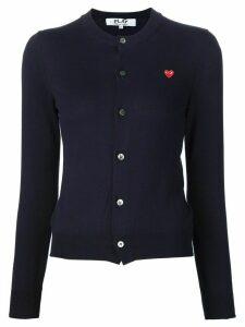 Comme Des Garçons Play mini heart cardigan - Blue